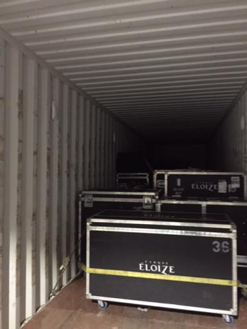Show equipment on the move
